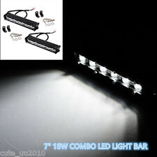 "2PCS 7""18W COMBO LED LIGHT BAR OFFROAD DRIVING LAMP SUV ATV CAR 4WD OFFROAD Bulb"