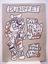 JEAN DUBUFFET Grand Palais - Festival d'Automne a Paris, 1973