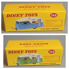Dinky 188 Four Berth Caravan Empty Repro Box Only