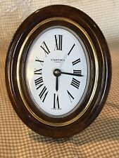 Cartier Travel / Desk Alarm Clock w/ Brown Tortoiseshell Enamel