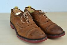 Allen Edmonds Strandmok Brown Leather Patina Captoe Broque Dress Shoes Sz 10.5D