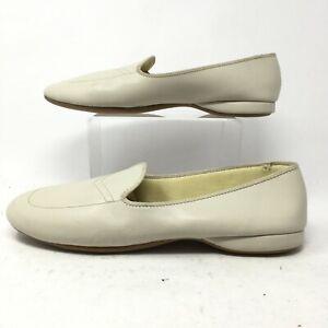 Daniel Green Womens 12WW Meg Slip On Flat Loafers Casual Shoes Cream 40108-270