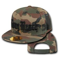 Camo Long Beach Vintage Cal State LBC Flat Bill Snapback Snap Back Cap Hat Hats