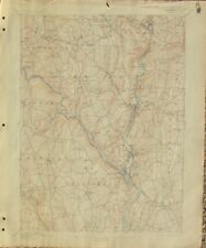 US GEOLOGICAL SURVEY MAP 1907 CONNECTICUT DERBY SHEET USGS TOPOGRAPHY