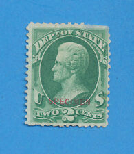USA - Scott O58, OFFICIAL 2 ct - SPECIMEN overprint, 1873