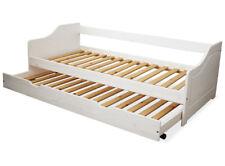 KMH® Ausziehbett 90 x 200 Jugendbett Kinderbett Gästebett Einzelbett Bett weiß