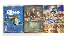 3 Dvd Bundle - Finding Nemo / Pirates of The Caribbean / Snow Buddies - Movies