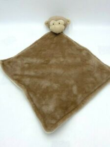Carters Tan Brown Monkey Baby Security Blanket Plush Head FLAW READ Soft 2016