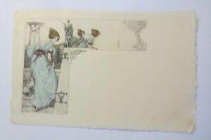 Künstlerkarte, Jugendstil, Frauen, Mode,   1900, Pallas Athene ♥