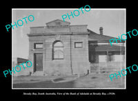 OLD LARGE HISTORIC PHOTO STREAKY BAY SOUTH AUSTRALIA THE BANK OF ADELAIDE c1920
