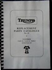 TRIUMPH  6T T100 TR6 T110 T120 PRE-UNIT PARTS BOOK MANUAL 1959 - TP27