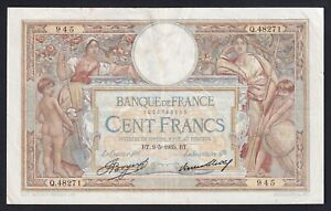 Francia 100 francs Luc Oliver Merson 9.5.1935 BB/VF  B-01