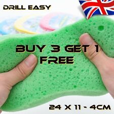 Sponges for Bathrooms Kitchens Tiling Grout Cleaning Stains Dirt in Green Red