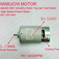 DC 12V-24V 18V High Speed Power Large Torque Mabuchi RS-550PF DC electric Motor