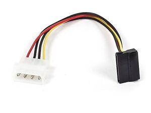 """8"""" Molex 90 Degree SATA 15pin Female to Molex 4pin Male Power Adapter - Canada"""