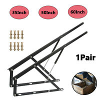 """Bed Lift Mechanism 35"""" 50"""" 60"""" Pair of Pneumatic Storage Lift Kit for Box Bed"""