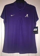 Alabama Crimson Tide Nike Women's Shirt Purple Golf Polo Dri Fit Size Medium