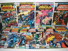 Marvel Comics Tomb of Dracula #59 60 61 62 63 64 65 66-69 High Grade Run 8.0-9.4