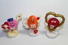 Red Orange Pink VALENTINE'S DAY LOVE HEART M&M Figure Candy Toppers Collectible