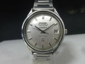 Vintage 1967 CITIZEN Automatic watch [Crystal Seven 7] 33 Jewels