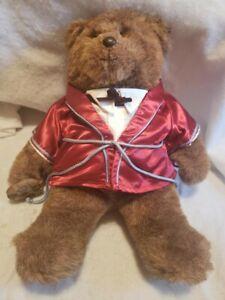 Vtg Gund 1983 Abiner Smoothie Dennis Kyte Lounge Smoking Jacket Bear Plush