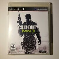 Call of Duty Modern Warfare 3 Sony PS3 3 2008 M-Mature Complete Tested/Working