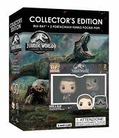 Jurassic World - Il Regno Distrutto - Blu Ray + 2 Funko Pocket Pop - Nuovo
