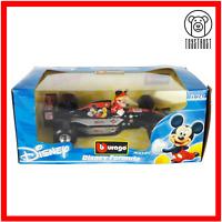 Burago Disney Collection 1:24 Diecast Formula 1 Racing Car Mickey Mouse M1