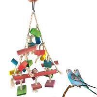 GN- PET BIRD BITES PARROT CHEWING CLIMBING TRAINING TOY HANGING GAME LADDER KAWA