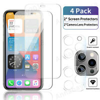 Tempered Glass Screen Protector Camera Lens Protector For iPhone 12 11 Pro Max