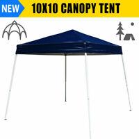 10x10 Canopy Tent Outdoor Pop Up Ez Gazebo Patio Beach Sun Shade Tan Mosquito