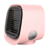 USB Mini Portable Air Conditioner Desktop Air Cooling Fan Office Home Air C S8Y5