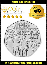 2018 Representation of The People Act 1918 UK 50p Fifty Pence Coin - Royal Mint