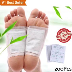 200 Pcs/lot GOLD Premium Kinoki Detox Foot Pads Organic Herbal Cleansing Patche