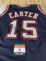 Vince Carter Autographed/Signed Jersey COA New Jersey Nets