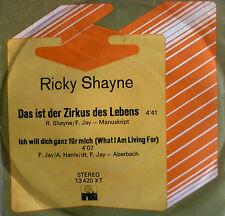 """7"""" 1973 RARE RICKY SHAYNE Das ist der Zirkus des Lebens"""