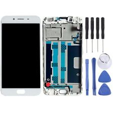 LCD Screen Display TFT Touch Digitizer With Frame Replacement For Oppo R9s WHITE