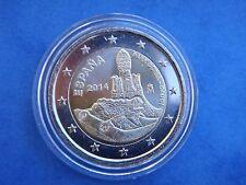 """♣ Pièce 2 euros commemorative  ESPAGNE 2014 """"  PARK GUELL  """"  sous capsule ♣"""