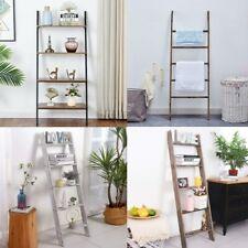 Rustic Blanket Ladder Leaning Shelf Bookcase Bookshelf Living Room Farmhouse New