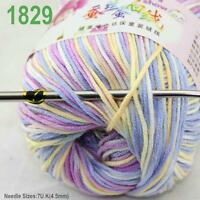 Sale New 1ballx50g Soft Cashmere Silk Wool Baby Children Hand Knitting Yarn 29