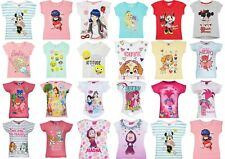 Girls Kids Teenage Disney Characters Masha Paw Patrol T-Shirt Top 1,5-12 years