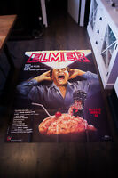 BRAIN DAMAGE Horror 4x6 ft Vintage French Grande Movie Poster Original 1988