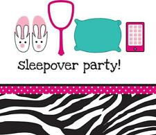 Pink Zebra Boutique Girls Birthday Party Paper Luncheon Napkins - Sleepover