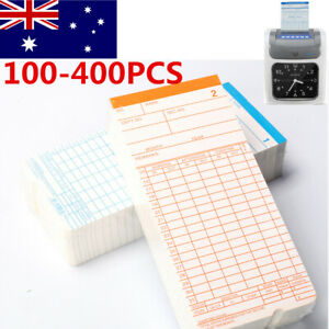 100-400X Monthly Payroll Cards For Employee Time Attendance Bundy Clock Recorder