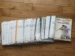 Huge lot of 320 Sports Illustrated Baseball Covers ONLY Bagged from 1968-2010