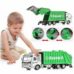1Pc 1:32 Garbage Truck Trash Bin Lorry Vehicle Toy Diecast Models Car Kids Gift