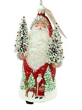 New ListingPatricia Breen Through the Night Forest Red Christmas Tree Holiday Ornament