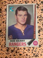 Rod Gilbert 1969-70 New York Rangers Hockey Card