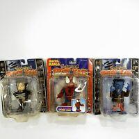 Twist 'Ems Wolverine, Spider-Man & Nightcrawler Motorized Figures Toy Biz