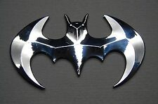 BATMAN  3D ABS CHROME EMBLEM STICKER LOGO BADGE DECAL FOR CARS& BIKES (SET OF 2)